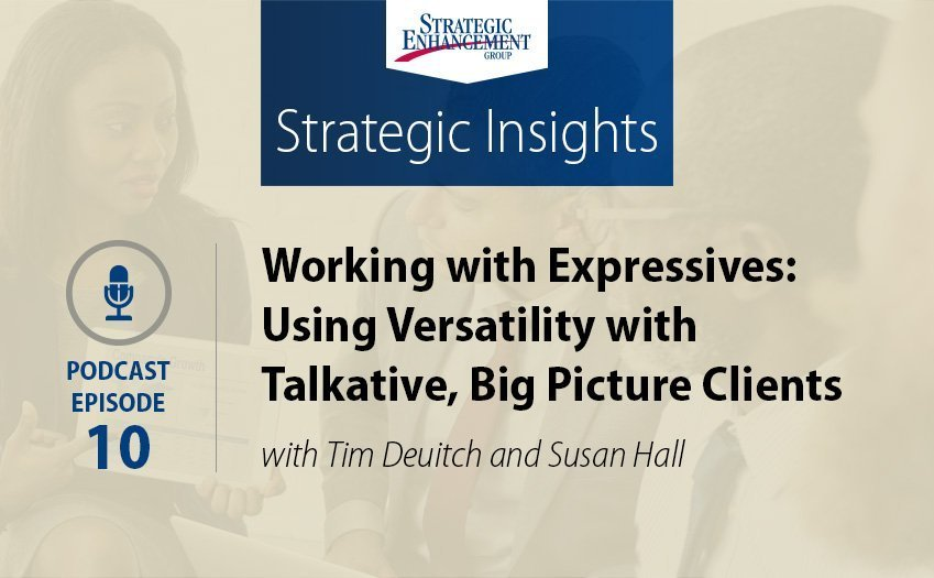Working with Expressives: Using Versatility with Talkative, Big Picture Clients