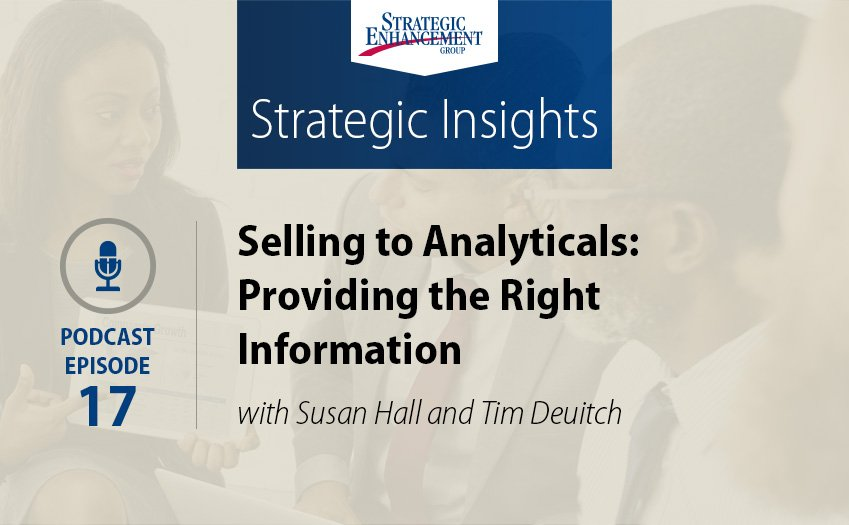 Selling to Analyticals: Providing the Right Information