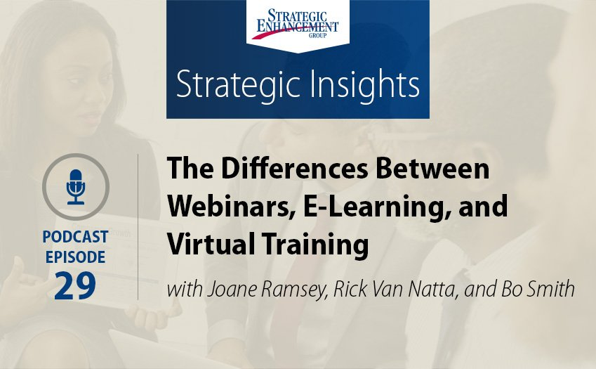 The Differences BetweenWebinars, E-Learning, and Virtual Training